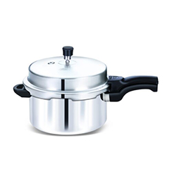 Globe Outer Lid Aluminium Eagle Induction Pressure Cooker, Silver